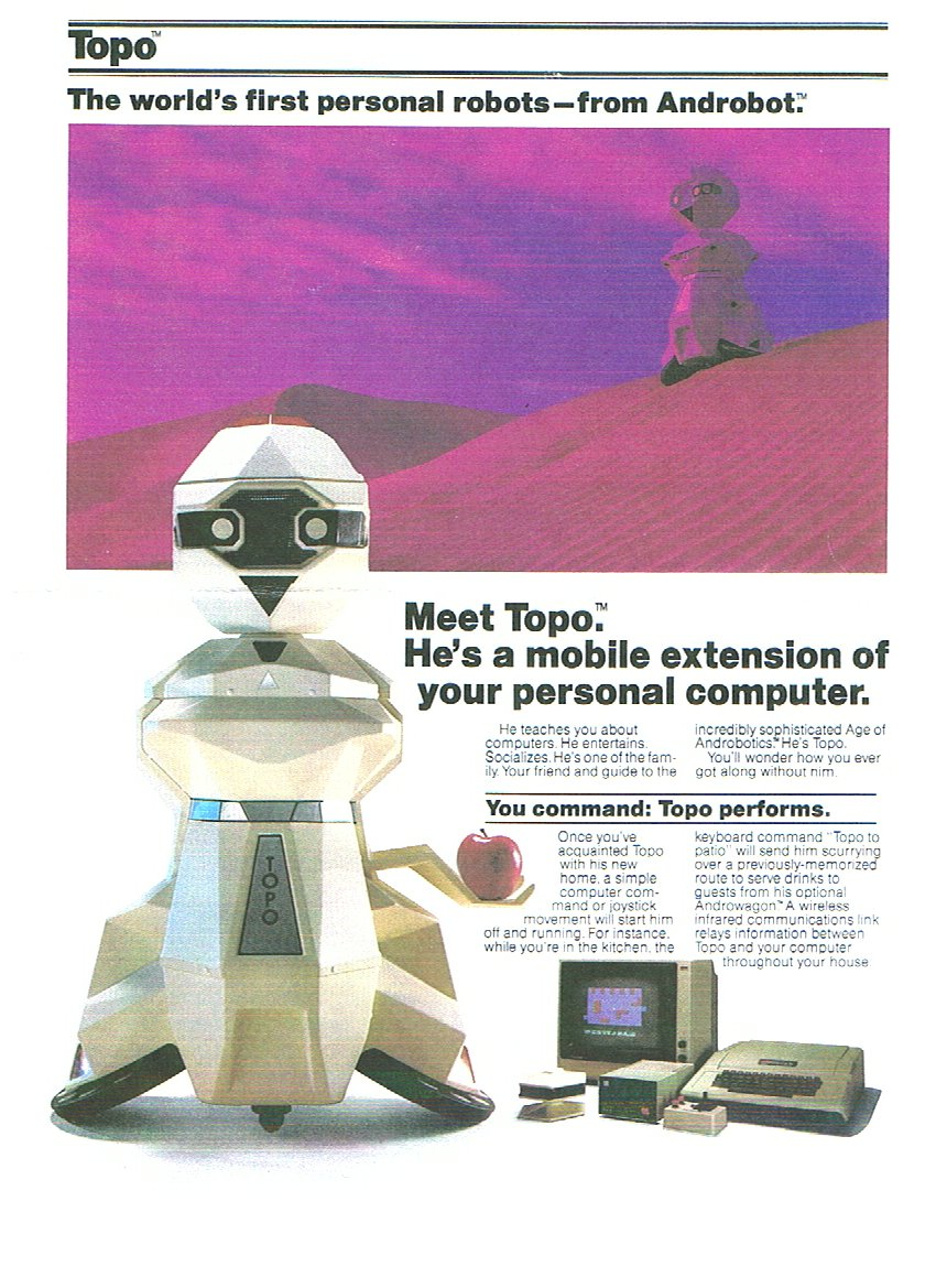 handout for Topo personal robot